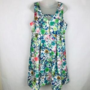 Florence Darling retro 1950s Textured Floral Dress